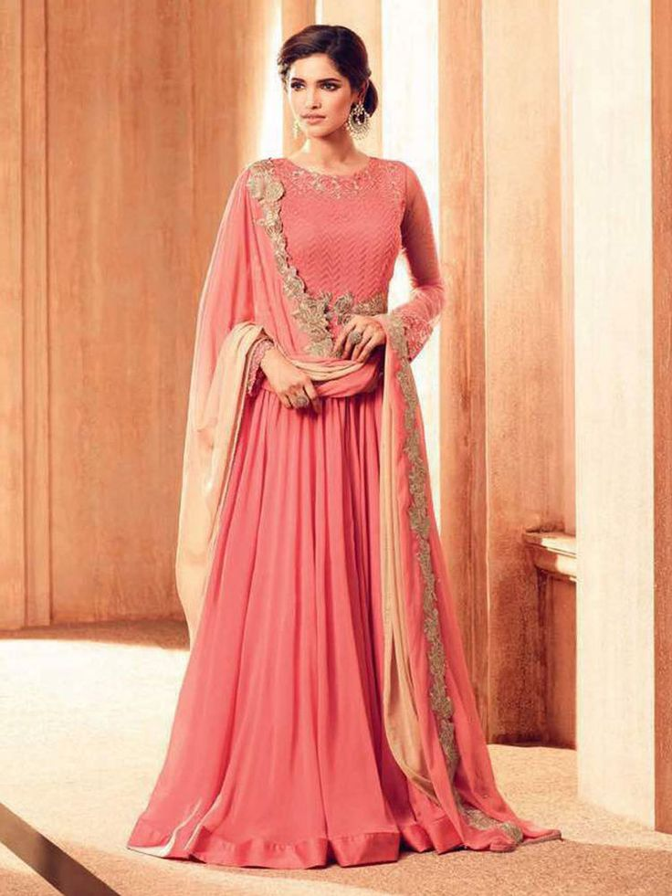 Indian designer bollywood stylish party wear dresses gown for girls   eBay