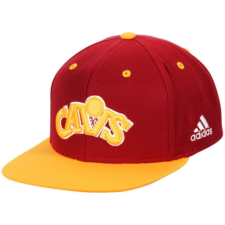 Cleveland Cavaliers adidas Jersey Hook Snapback Adjustable Hat - Wine/Gold - $20.79