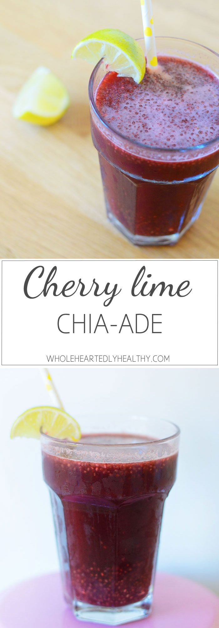 Cherry Lime Chia-ade Recipe with BRITA - Wholeheartedly Healthy