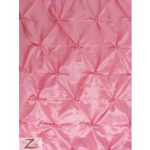 $6.95/yd - Button Style Taffeta Fabric / Pink / Sold By The Yard
