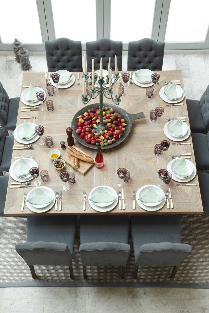 this is holiday setting and is so much more dramatic than the traditional 12 top rectangular tables