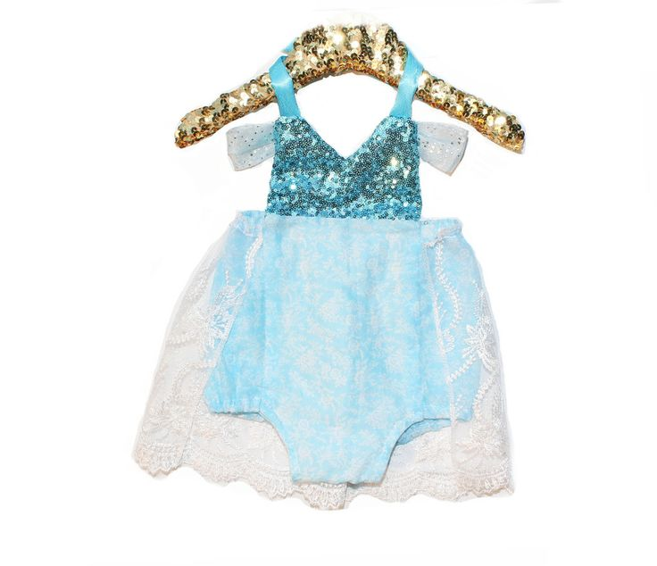 Limited Edition Queen Elsa Sparkle Romper Baby Halloween Costume #BelleThreadsPinterest