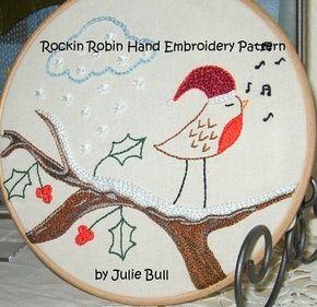 'Rockin Robin' Xander Panda Hand Embroidery Patterns