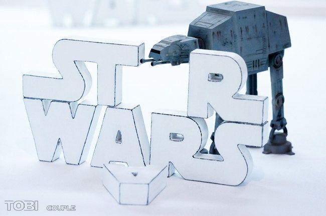 Star Wars Holzbuchstaben von ToBicouple auf Etsy