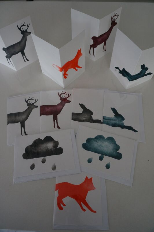 NEW!  Assorted hand painted cards by Claire Webber, Hobart, Tasmania.  Each card is individually hand painted using eco-friendly water based paints.  $7 each  For more info, please email: webberclaire1@gmail.com