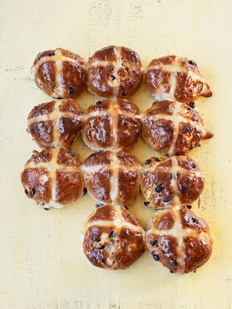 Packed with flavour, these are real hot cross buns.   Took a LONG time to make from beginning to end, but they're very good. -J
