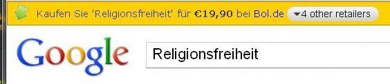 Religionsfreiheit für €19,90