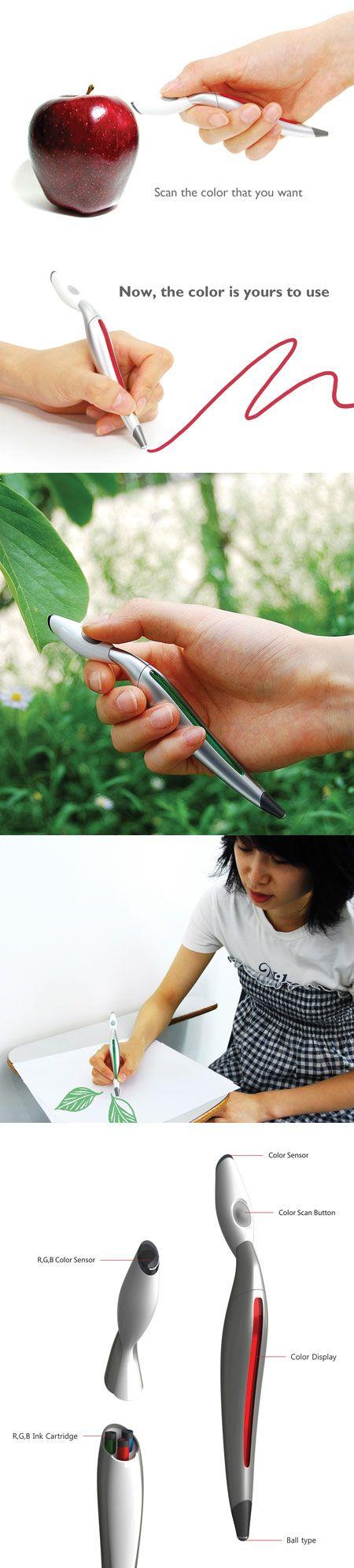 Un stylo pour capturer les couleurs de votre environnement et les utiliser dans vos croquis