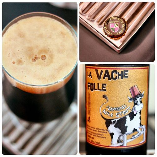 La Vache Folle Milk Stout from Microbrasserie Charlevoix