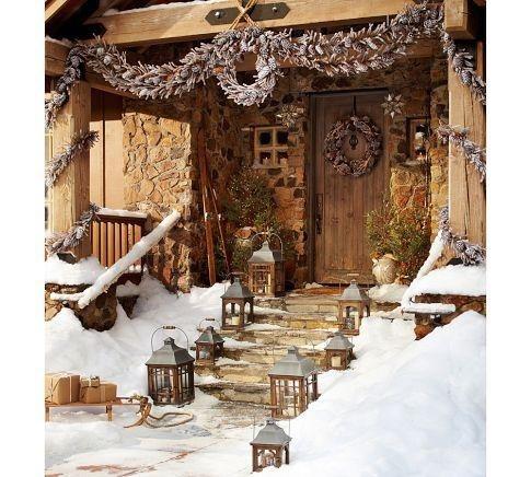 Casa com neve