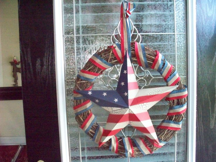 Fourth of July Rustic Charm by WreathsBowsandThings on Etsy