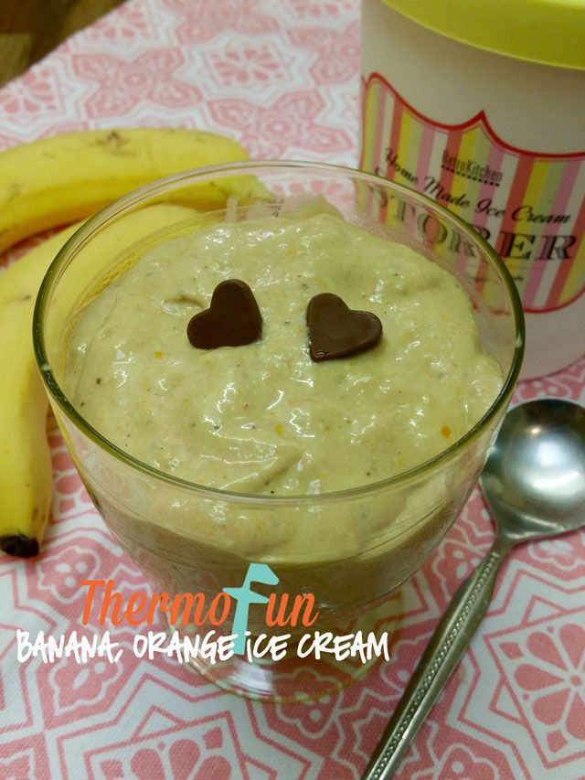 "KIDtastic Friday - Banana & Orange Ice Cream - Great ""treat"" for all the family!"