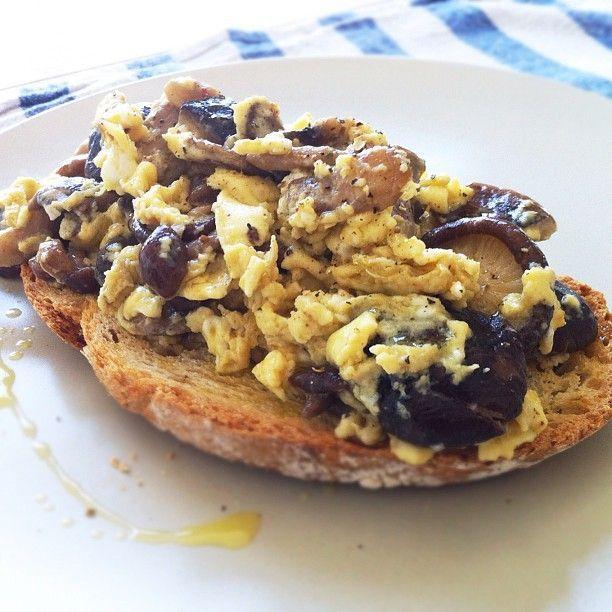 Tosta de revuelto de setas: http://tostas-de-revuelto-de-setas.recetascomidas.com/ #setas #recipe