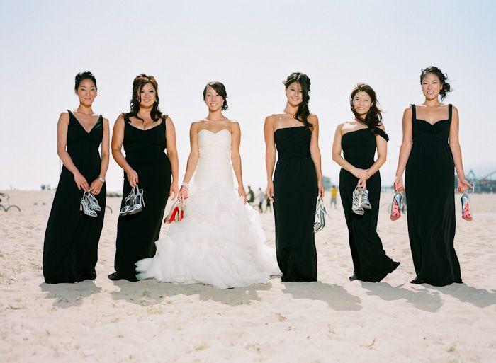 Long Black Bridesmaids Dresses Black Bridesmaids