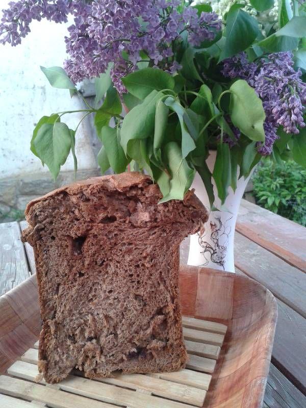 Csokis-mazsolás kalács (kenyérsütőgépben)