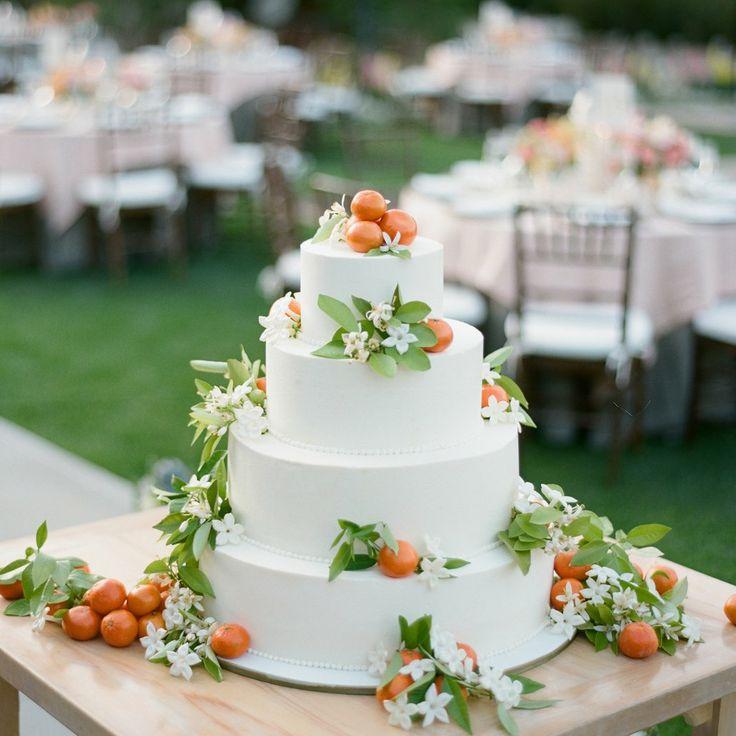 Kumquat & Orange Blossom Wedding Cake - Wedding Floral Decor by LMD Lewis Miller Designs  Photo by Amy & Stuart Photography