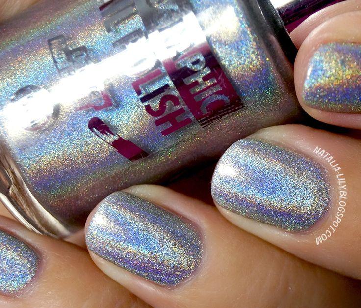 natalia-lily: Beauty Blog: Holographic Nail Polish - Lakier do paznokci - Efekt Hologramu nr 01 - Opalizujący na srebrno (Allepaznokcie)