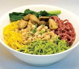 Mie Ayam Pelangi (Indonesian Food)
