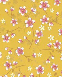 Halltapet 2 Tapet PiP Cherry Blossom Yellow från Pip Studio