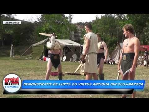 DEMONSTRATIE DE LUPTA CU VIRTUS ANTIQUA DIN CLUJ-NAPOCA - YouTube