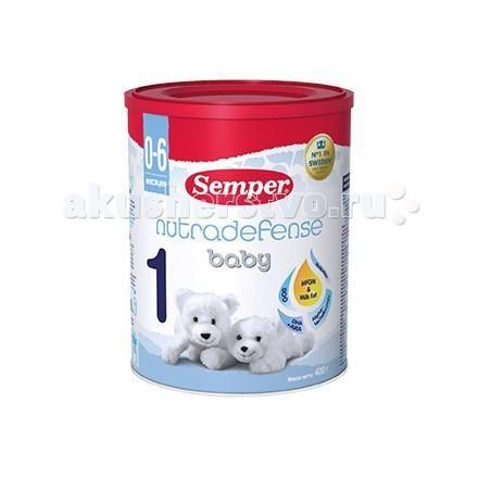 Semper Молочная смесь Nutradefense 1 0-6 мес. 400 г  — 700р. ---  Молочная смесь Semper Nutradefense 1  Для питания детей раннего возраста предпочтительнее грудное вскармливание. Semper 1 - молочная смесь для детей с рождения до 6 месяцев при недостатке или отсутствии грудного молока с учетом физиологических потребностей детей этого возраста.   Nutradefense - комплекс ингредиентов, естественным образом присутствующих в грудном молоке: Пребиотики. Укрепляют иммунитет, обеспечивают комфортное…