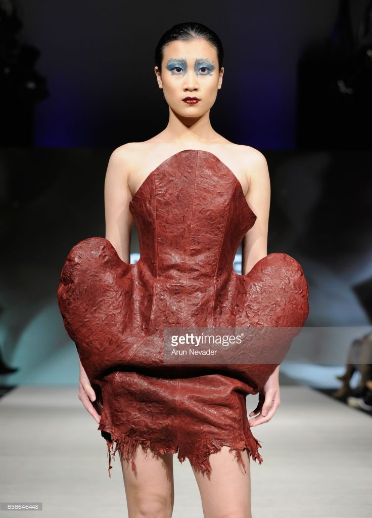 A model walks the runway wearing Kirsten Ley at Vancouver Fashion Week Fall/Winter 2017 at Chinese Cultural Centre of Greater Vancouver on March 22, 2017 in Vancouver, Canada.