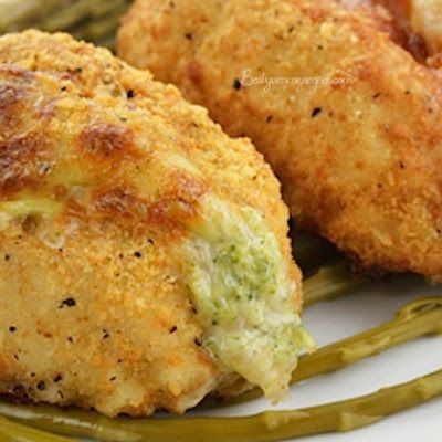 WARNING: One serving of this Broccoli and Cheese Stuffed Chicken Breasts may not fully satisfy your hunger! These Broccoli, American and Swiss cheese stuffed chicken breasts are so good you'll be asking for seconds.