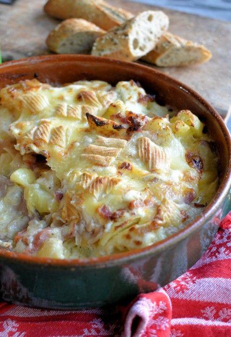 Tartiflette Savoyarde with Reblochon Cheese | http://www.lavenderandlovage.com