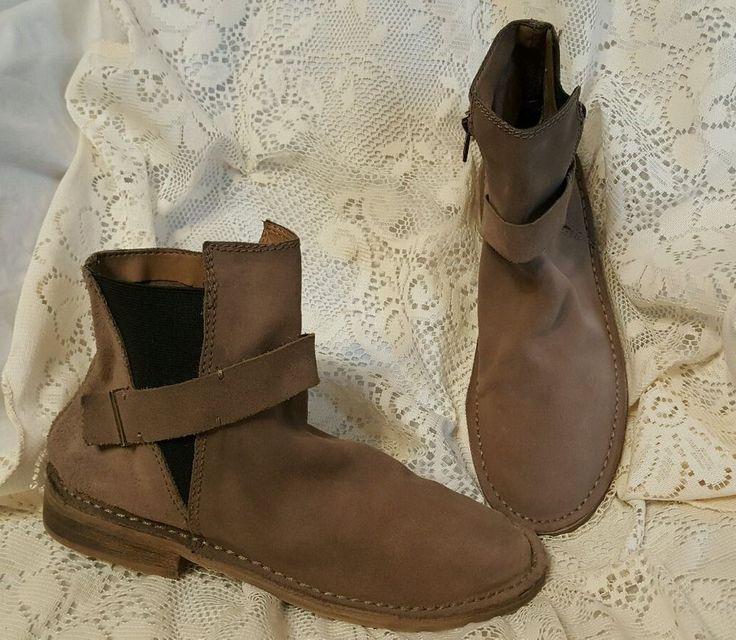 Von Dutch women's shoes sz 8.5 boots booties light brown leather Kickingtires #VonDutch #Booties