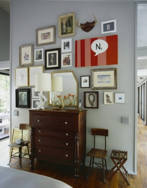 i looooove yoou gallery wall: Decor, Picture, Galleries, Ideas, Gallery Walls, Eclectic Bedrooms, Photo, Design, Art Wall