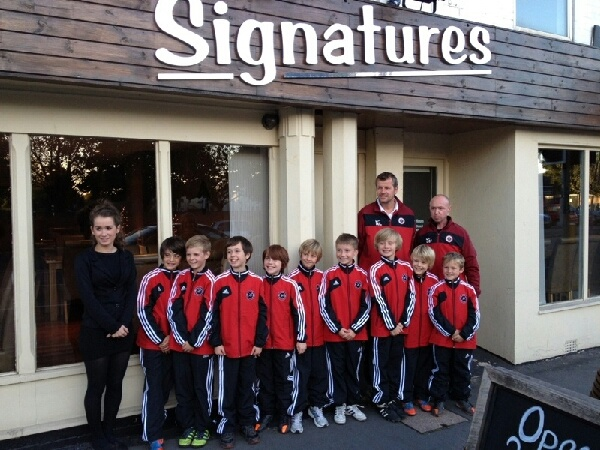 This photo was sent in to us from a very happy junior team based in North Leicestershire who purchased the Adidas Condivo 12 Presentation Suit.    This photo features their very supportive sponsor who made the purchase possible and we were delighted that they were happy with their final tracksuits!    This team as part of the Leicester & District Mutual League, which we are the principal sponsors.  http://www.leaguewebsite.co.uk/leicesterdistrictmutualleague