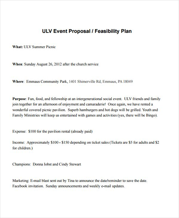 Event Proposal Templates 14+ Free Printable Word  PDF Formats