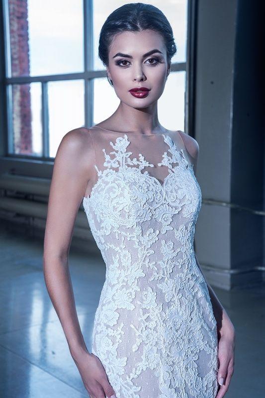 15092-1 в Красноярске, Платье в пол, Свадебное платье с рукавом, Свадебное платье с закрытым верхом, Пышное свадебное платье