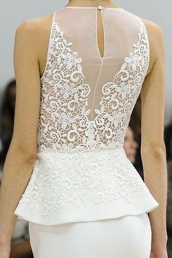 Hermosa espalda de vestido de novia ... ¿Largo, corto? tú decides - Fashion in Details