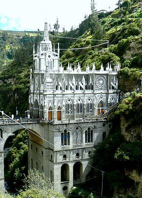 Is this real? Adding it to the list!! Santuario de Las Lajas (Colombia)