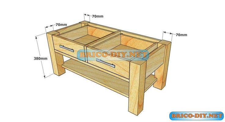 M s de 1000 ideas sobre aglomerado de madera en pinterest - Mesas de centro con cajones ...