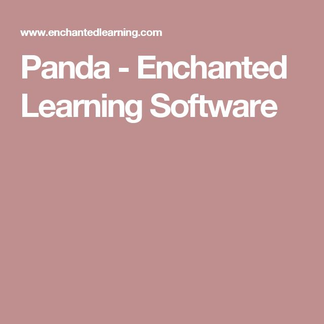 Panda - Enchanted Learning Software