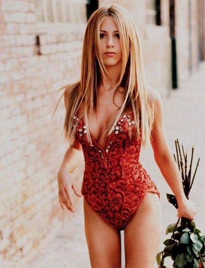 I think Jennifer Aniston gets better looking every year. Must be her workout routine that is doing it.