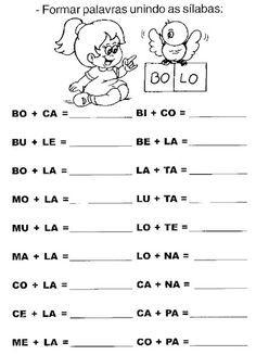 Juntando Sílabas - Atividades de Alfabetização