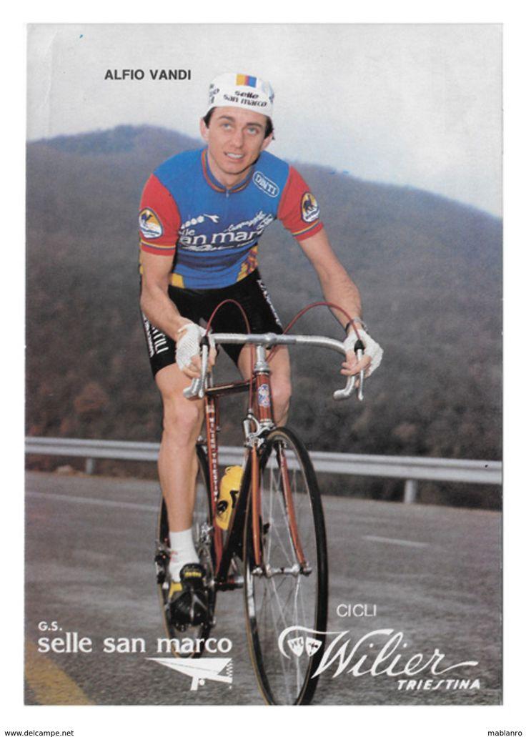 CARTE POSTALE CYCLISME ALFIO  VANDI  TEAM  SELLE  SAN  MARCO 1981 - Cycling
