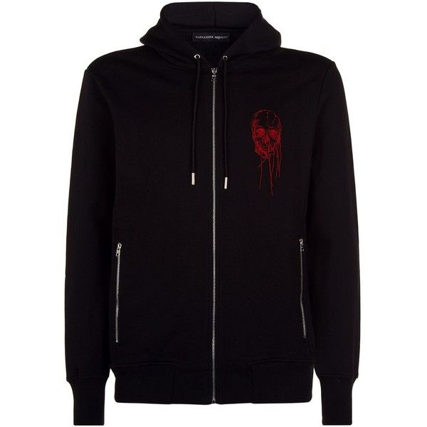 Alexander McQueen Embroidered Skull Zip-Up Hoodie ($1,005) ❤ liked on Polyvore featuring men's fashion, men's clothing, men's hoodies, mens zip up hoodies, mens hoodies, mens skull zip up hoodies, mens sweatshirts and hoodies and mens skull hoodies