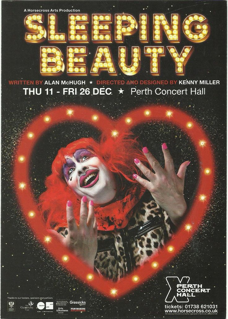 Poster of The Sleeping Beauty  in Perth Concert Hall Pantomime Friday 12th December 2014 - Saturday Friday  26th December  2014
