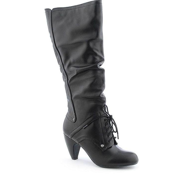 Sexy Women's Fashion high knee Mid Calf Leather Platform Motorcycle riding Boots #Shiekh #RidingFashion