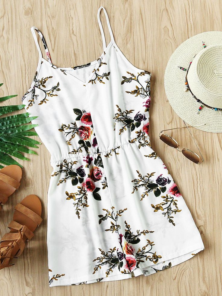 Shop Botanical Print Elastic Waist Playsuit online. SheIn offers Botanical Print Elastic Waist Playsuit & more to fit your fashionable needs.