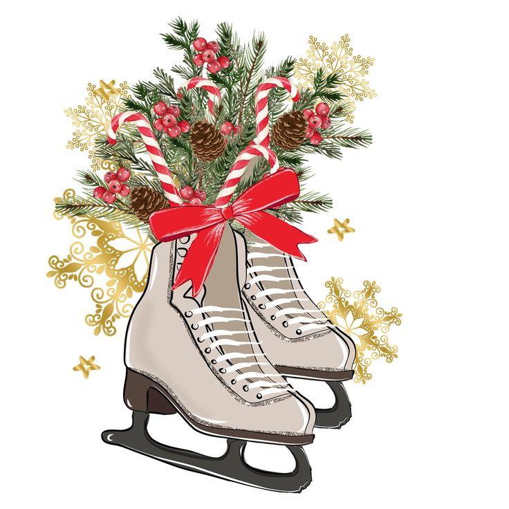новогодние картинки с коньками никогда
