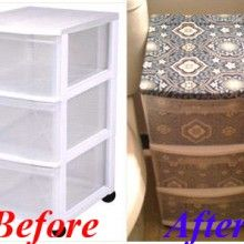 Decorate Plastic Storage Drawers To Match Your Personal Style   And I Want  To Do This
