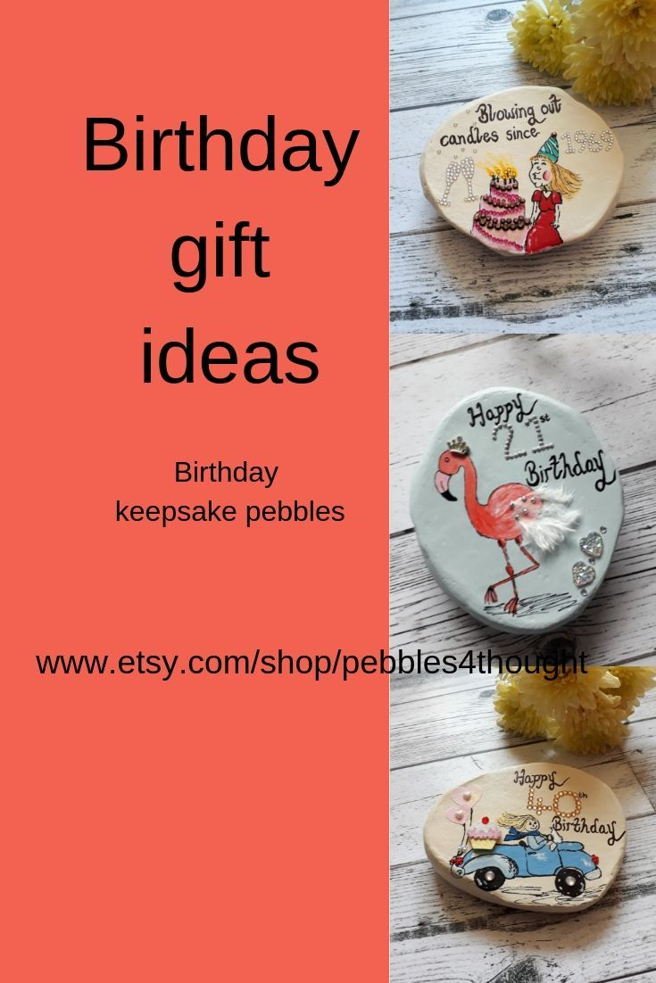 Hand Painted Special Birthday Keepsake Pebbles All Comes In A Gift Box Great
