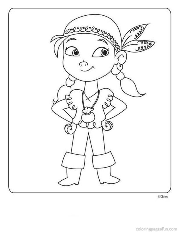 Jake And The Never Land Pirates Coloring Pages 2 Free Printable