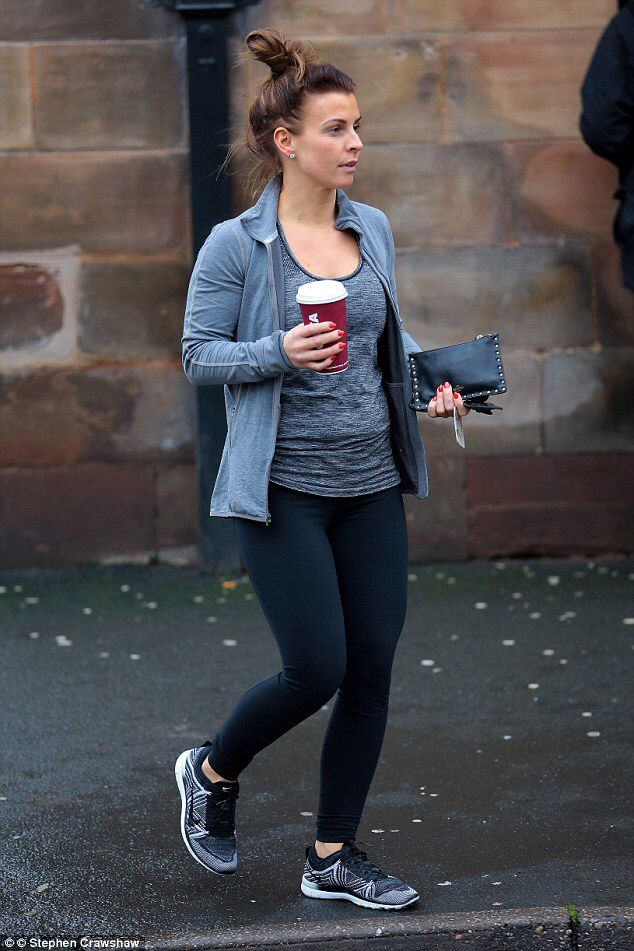 Coleen Rooney flaunts toned frame in skintight leggings after gym #dailymail