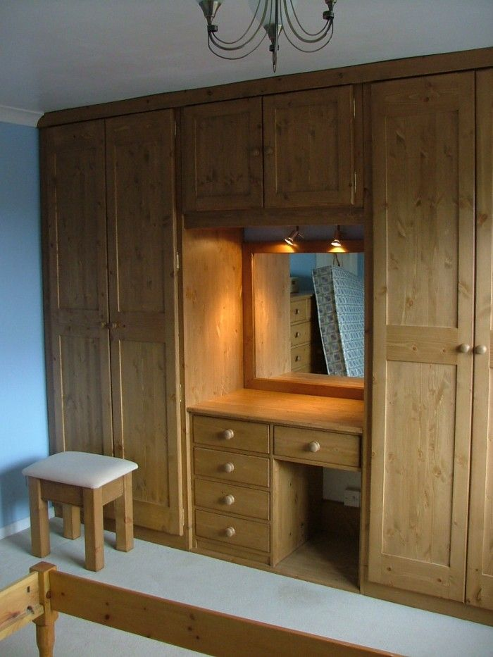 Bedroom cupboard designs with dressing table cupboards for Bedroom designs with attached bathroom and dressing room